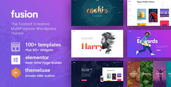 Fusion – Creative Multi-Purpose WordPress Theme